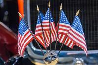 five mini american flags
