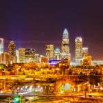 """city of gold charlotte north carolina"" by digidreamgrafix"