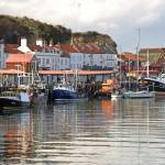 """Boats in the Lower Harbour, Whitby (35991-RDA)"" by rodjohnson"