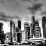 """Black/white Cityscape Singapore"" by sghomedeco"