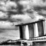 """Black/white Cityscape Singapore - Marina Bay Sands"" by sghomedeco"
