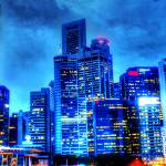 """Urban Singapore - City in Blue"" by sghomedeco"
