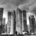 """Black and White Series - Cityscape Singapore 2013"" by sghomedeco"