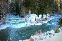 Frozen Blue River