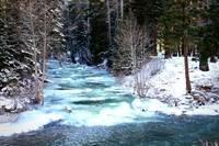 Icy Blue River