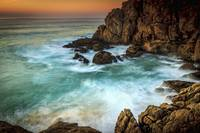 Dusk at Penencia Point Galicia Spain