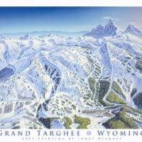"""Grand Targhee Resort, Wyoming"" by jamesniehuesmaps"