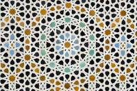 Close-up of Ornate Mosaic Wall, Morocco
