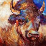 """THE WISE ONE BUFFALO"" by MBaldwinFineArt2006"