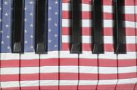 Patriotic Piano keyboard Octave