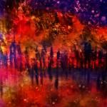 """""""8x10 Purple Night Autumn Forest Abstract Nikol Wik"""" by NikolWikman"""