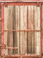 Old Rustic Railroad Train Car Door