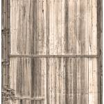 """Sepia Old Classic Colorado Railroad Car Door"" by lightningman"