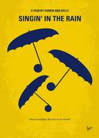 No254 My SINGIN IN THE RAIN minimal movie poster
