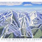 """Silver Mountain, Idaho"" by jamesniehuesmaps"