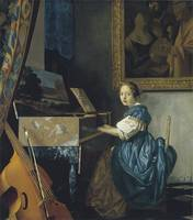 Young Woman Seated at a Virginal (c. 1670)