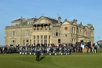 Pipe Band in Front of Royal and Ancient Clubhouse
