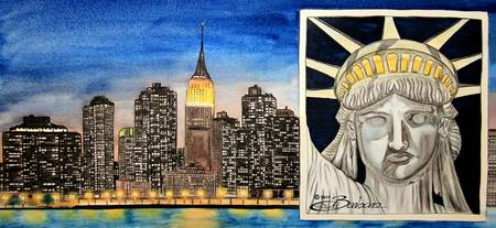 New York and the Statue of Liberty