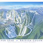 """Silverstar Ski Resort, British Columbia"" by jamesniehuesmaps"
