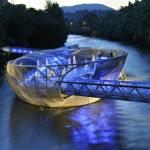 """""""Futuristic Murinsel (Mur Island) in Graz, Austria"""" by petrsvarc"""