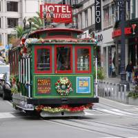 Cable Car on Street of San Francisco Art Prints & Posters by Alexander Rasputnis