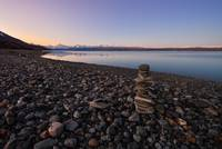 Stone Arrangement Near Lake Pukaki