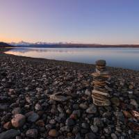 Stone Arrangement Near Lake Pukaki Art Prints & Posters by Kamrul Arifin Mansor