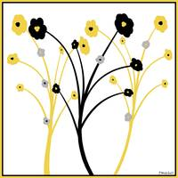 Yellow and Black Flower Simplicity