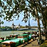 """Paris, Seine-Quai Rive Droite"" by letlet"