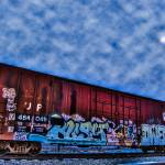 """Graffiti Traincar"" by FischerPhotography"