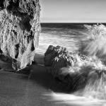 """""""Surf Breaking on Rocks"""" by JimLipschutz"""