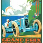 """Vintage Classic Automotive Poster #1"" by ArtLoversOnline"