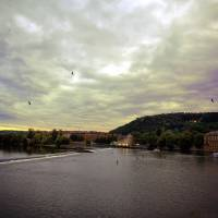 Vltava View Revisited Art Prints & Posters by Madeline Ellis