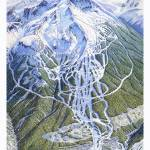 """Blackcomb, 1993 Trail map Image"" by jamesniehuesmaps"