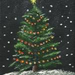 """Christmas Tree at Night"" by ArtbySheryl"