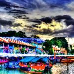"""""""Color of Clarke Quay, City Singapore 2013"""" by sghomedeco"""