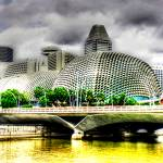 """Esplanade Theater and Bridge - Cityscape Singapore"" by sghomedeco"