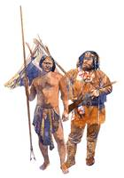 Fur trader and American Indian
