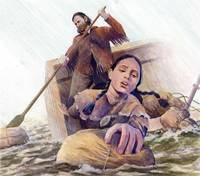 Sacagawea saving supplies