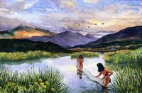 Paleo-Indians fishing
