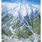 """Whistler 1992 Trail Map Painting"" by jamesniehuesmaps"