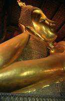 Reclining Buddha at Wat Pho Temple in Bangkok, Tha