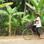 """Cyclist in Vietnamese Countryside, Mekong Delta"" by petrsvarc"