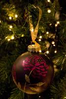 Purple and Pink Christams Bauble