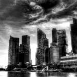 """THE CITY B/W - Fantastic City Singapore Series BW"" by sghomedeco"