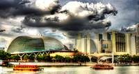 Esplanade and Sky - Fantastic City Singapore Serie