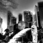 """City and Merlion - Fantastic City Singapore Series"" by sghomedeco"