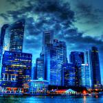 """CITY IN TWILIGHT - Fantastic City Singapore Series"" by sghomedeco"