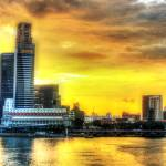 """CITY SUNSET - Fantastic City Singapore Series"" by sghomedeco"