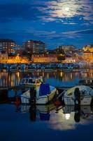 Moonrise in Karlskrona